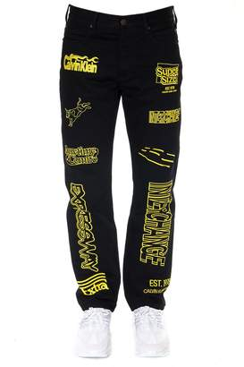 Calvin Klein Jeans Super Size Black & Yello Denim Jeans