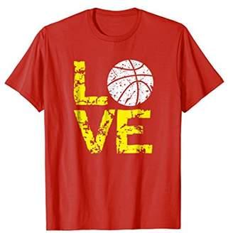 Love Basketball T Shirt; Blue & Yellow