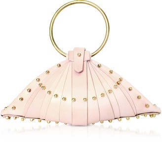 Una Burke Pink Leather Shell Bag w/Studs