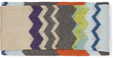 MissoniMissoni - Metallic Crochet-knit Headband - Beige