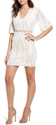 Endless Rose Lace Trim Embroidery Minidress