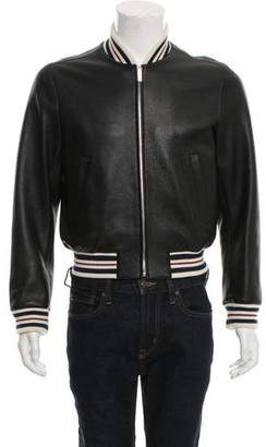 Thom Browne Leather Zip-Front Jacket w/ Tags