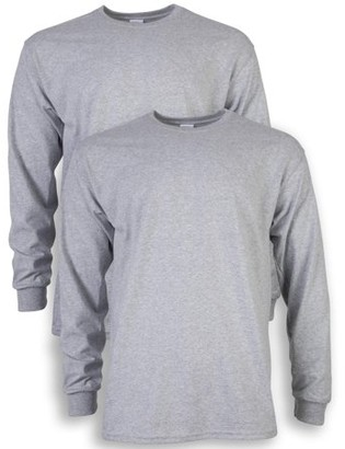Gildan Men's and Men's Big Ultra Cotton Long Sleeve T-Shirt, 2-Pack, up to size 5XL