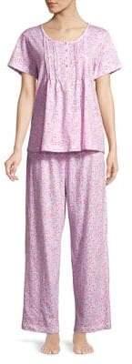 Carole Hochman Two-Piece Floral Cotton Pajama Set