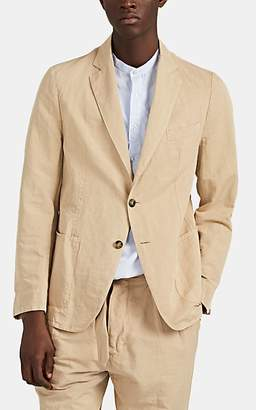 Officine Generale Men's Cotton-Linen Twill Two-Button Sportcoat - Beige, Tan