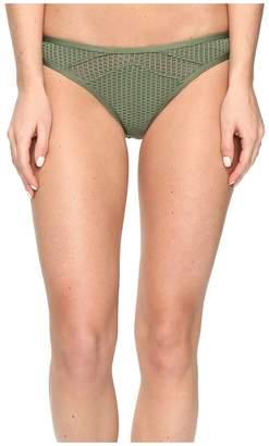 Red Carter Sun Dance Mesh Inset Cali Hipster Bottom Women's Swimwear