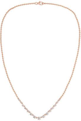 Jemma Wynne 18-karat Rose Gold Diamond Necklace - one size