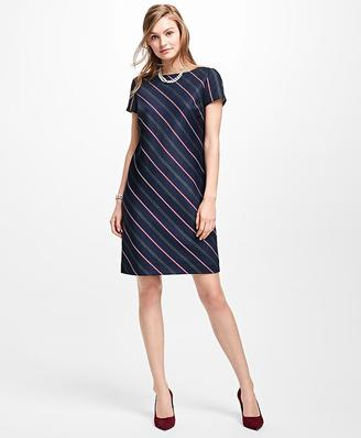 Striped Wool Shift Dress $138 thestylecure.com