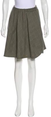 Emporio Armani Wool Plaid Skirt