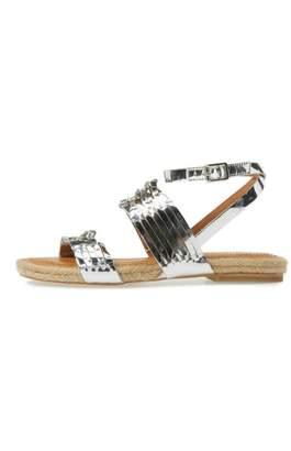 Corso Como Metallic Silver Sandal