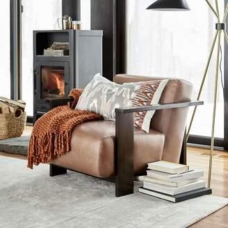 west elm Hawthorne Show Wood Leather Chair