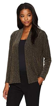 Chaus Women's Dolman Sleeve Chevron Lurex Cardigan
