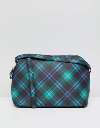 Bershka Plaid crossbody bag