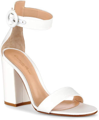 Gianvito Rossi Versilia 100 white grosgrain sandals