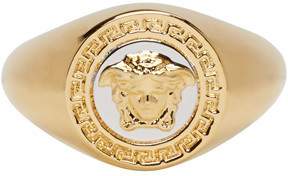 Versace Gold Medusa Ring $275 thestylecure.com