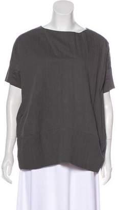 Marni Scoop Neck Short Sleeve Top