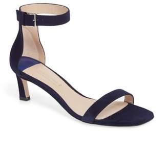 Stuart Weitzman 45SQUARENUDIST Ankle Strap Sandal