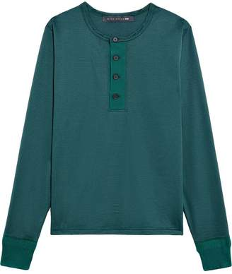 Green Cotton Mackintosh 0003 0003 Henley Shirt