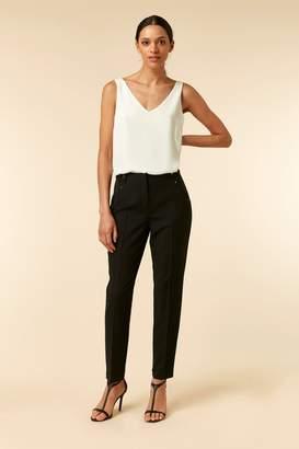 Wallis TALL Black Tapered Detail Trouser