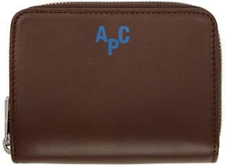 A.P.C. Brown Emmanuel Compact Wallet