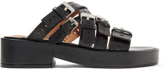 Fantom Buckled Laser-cut Leather Platform Sandals - Black Robert Clergerie RMPyQV