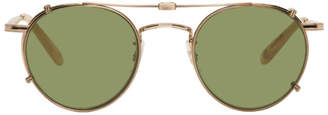 Garrett Leight Gold Wilson M Sunglasses