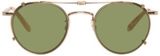 Garrett Leight Gold Wilson M Sunglasses