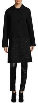 Lafayette 148 New York Vita Embroidered Coat