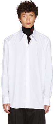 Raf Simons White Back Pleats Shirt
