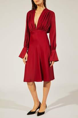 Khaite The Connie Dress In Currant