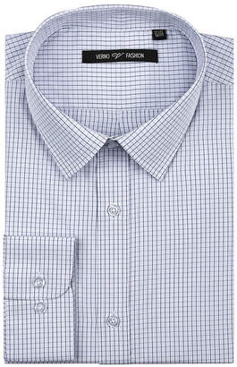 VERNO Verno Men's Classic Fit Dress Shirts with Plaid - Big & Tall