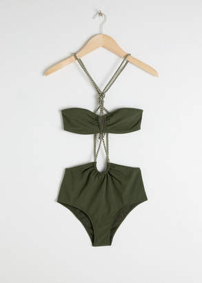 And other stories Open Twisted Rope Swimsuit