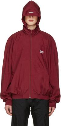 Vetements Burgundy Reebok Edition Classic Track Jacket $990 thestylecure.com