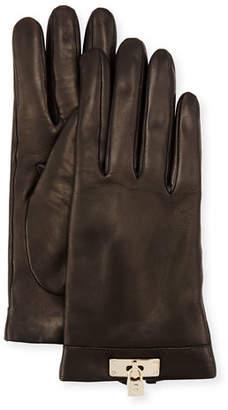 Portolano Leather Lock-Cuff Gloves $145 thestylecure.com