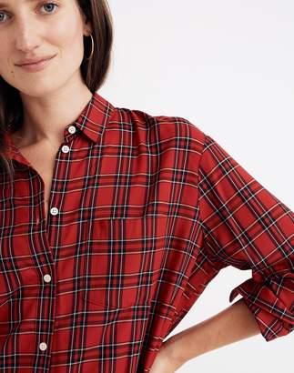 Madewell Oversized Ex-Boyfriend Shirt in Tartan Plaid