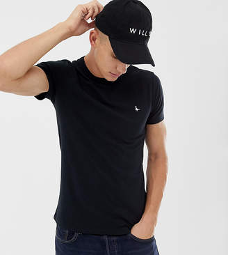 Jack Wills Landrier muscle fit t-shirt in black Exclusive at ASOS