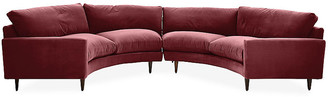 Robin Bruce Oslo Curved Sectional - Berry Velvet