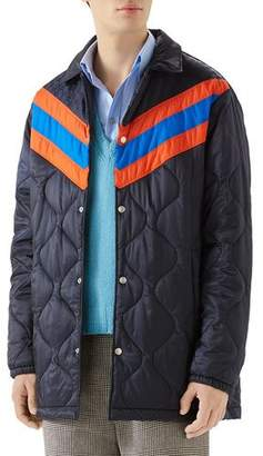 Gucci Men's Quilted Stripe Coat