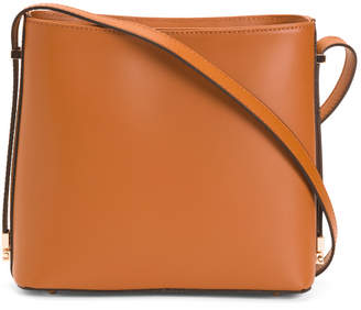 Leather Hobo With Hardware Detailing