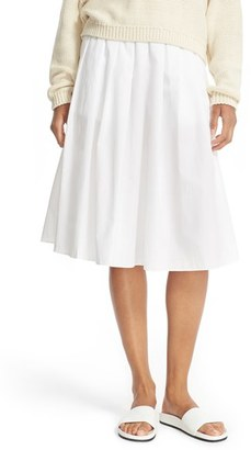 Women's Vince Multi Pleated Cotton Skirt $275 thestylecure.com