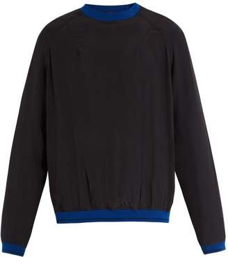 Haider Ackermann Contrasting detail silk-crepe sweater