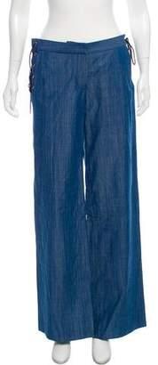 Tibi Mid-Rise Wide Leg Jean