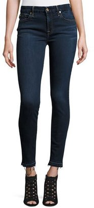 7 For All Mankind B(Air) Denim Ankle Skinny w/Released Hem, Tranquil Blue $179 thestylecure.com