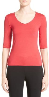 Women's Armani Collezioni Stretch Jersey Tee $345 thestylecure.com