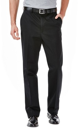 Haggar Men's Work to Weekend Classic-Fit Flat-Front No-Iron Expandable Waist Pants