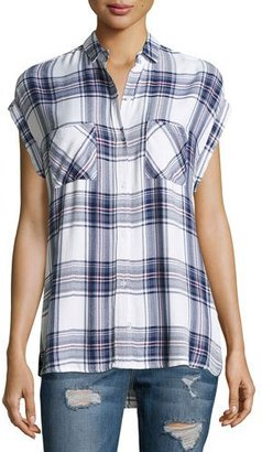 Rails Britt Plaid Short-Sleeve Shirt, Multi $132 thestylecure.com
