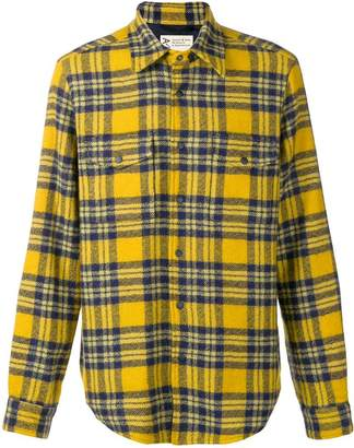 Aspesi checked flannel shirt jacket