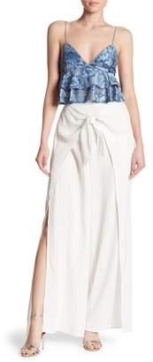 Dress Forum Pinstripe Tie Front Wrap Pants