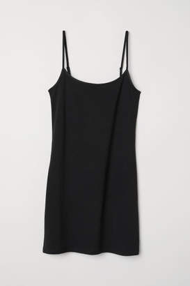 H&M Long Jersey Camisole Top - Black