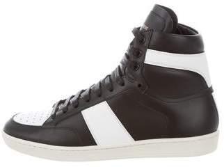 Saint Laurent SL/10H High-Top Sneakers w/ Tags